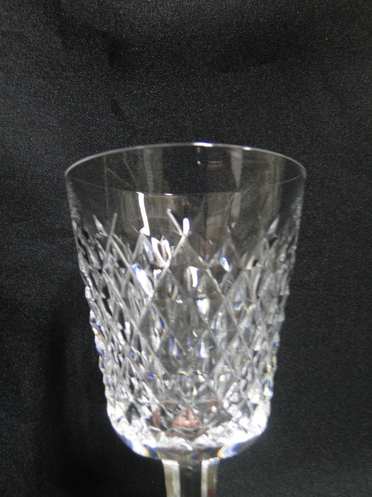 "Waterford Crystal Alana, Cut Cross Hatch: White Wine (s), 5 5/8"" Tall"