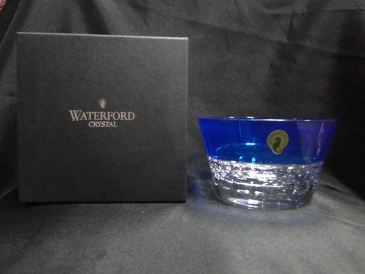 "Waterford Crystal Half & Half: NEW Round Azure Bowl, Blue, 5 3/8"", FREE SHIP, FREE WRAP"