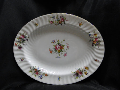 Minton Marlow, Florals on White: Oval Serving Platter, 13 5/8""