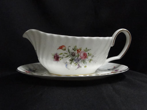 Minton Marlow, Florals on White: Gravy Boat & Separate Underplate
