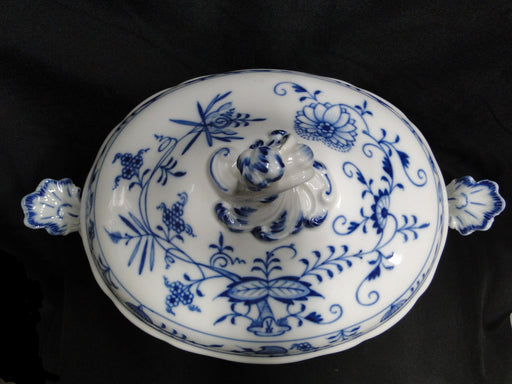 "Meissen Blue Onion, ""X"" Backstamp: Oval Tureen with Lid AS IS, 9 1/2"""