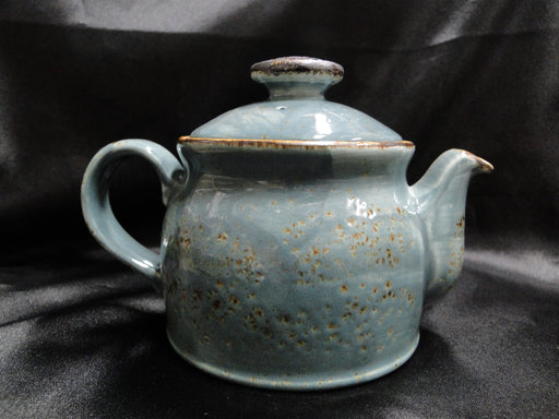 "Steelite Craft, England: NEW Blue Teapot Club w/ Lid, 4 1/2"", 15 oz"
