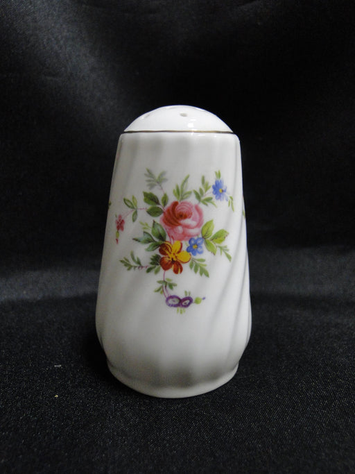 "Minton Marlow, Florals on White: Salt OR Pepper Shaker, 3"" Tall, 13 Holes"