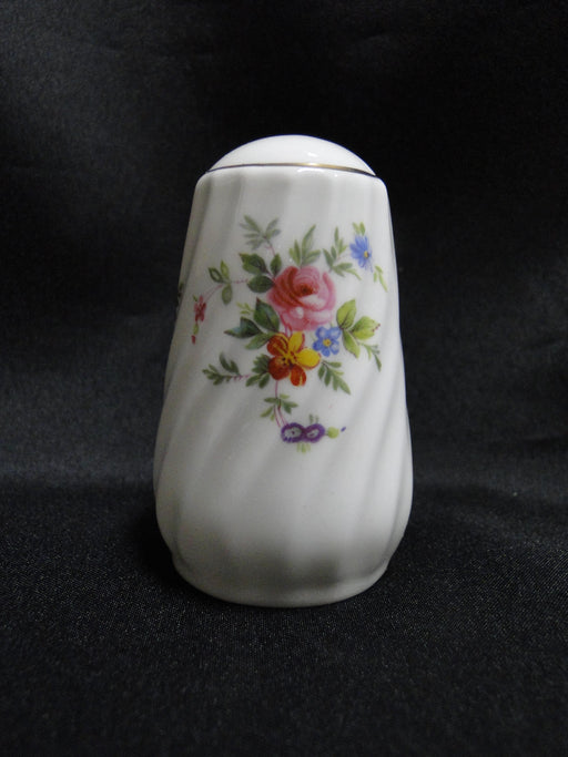 "Minton Marlow, Florals on White: Salt OR Pepper Shaker, 3"" Tall, 1 Hole"
