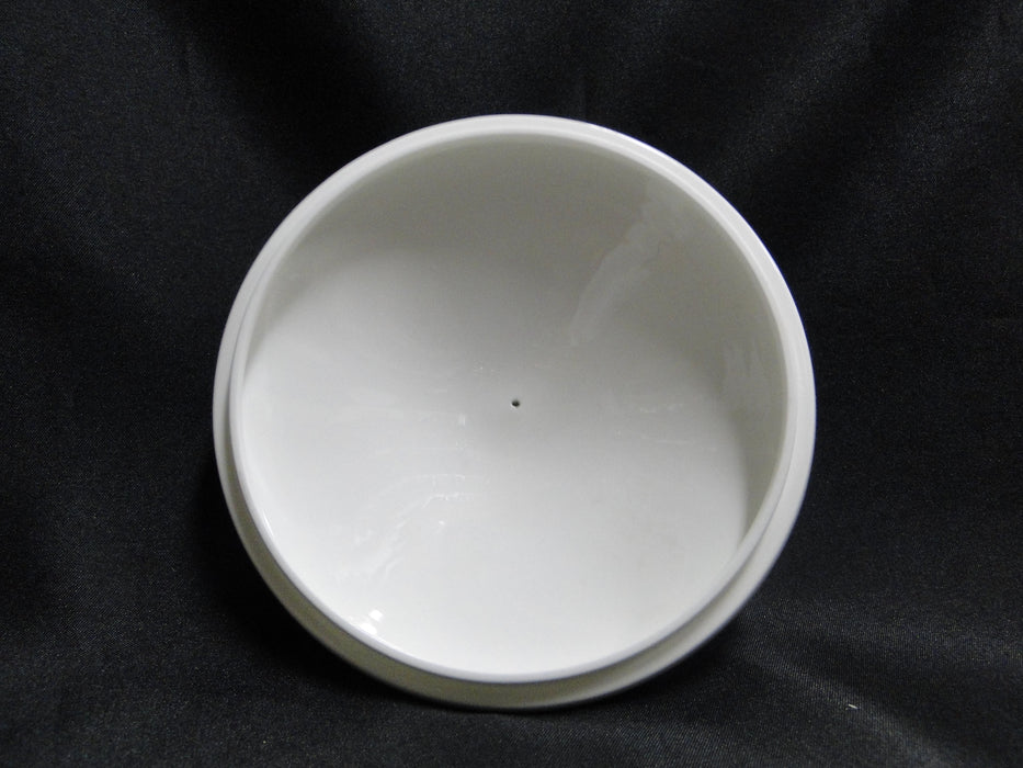 Villeroy & Boch Delta, Aqua Rim, White Fans: Round Covered Serving Bowl w/ Lid