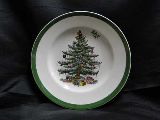 "Spode Christmas Tree, Green Trim, England: Bread Plate (s), 6 1/2"", As Is"