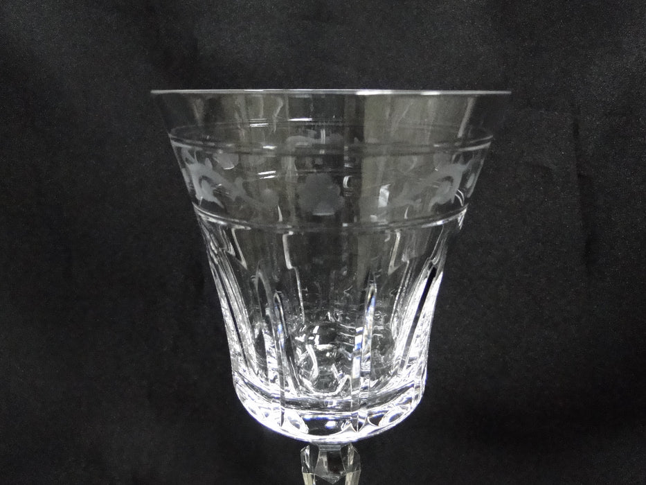 Wedgwood Monarch, Vertical Cuts, Gray Cut Runnymede: Water Goblet (s), 8 7/8""