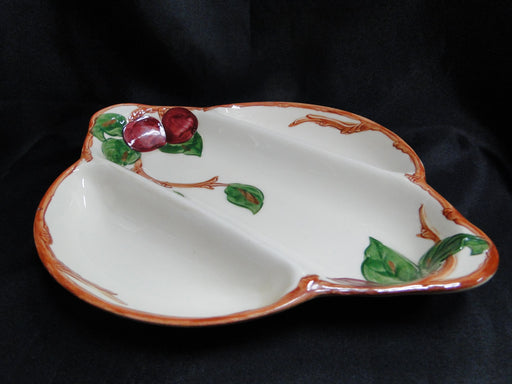 "Franciscan Apple (USA): 3 Part Relish Dish 11 7/8"" x 9 5/8"""