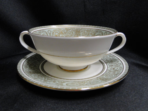 Royal Doulton English Renaissance, Green Scrolls: Cream Soup & Saucer Set (s)