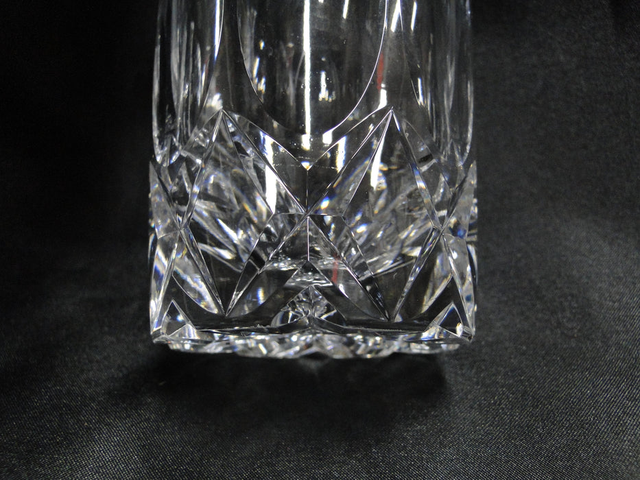 "Tudor Clear w/ Cut Thumbprints & Xs: Flat Tumbler, 5"" Tall, 10 oz"