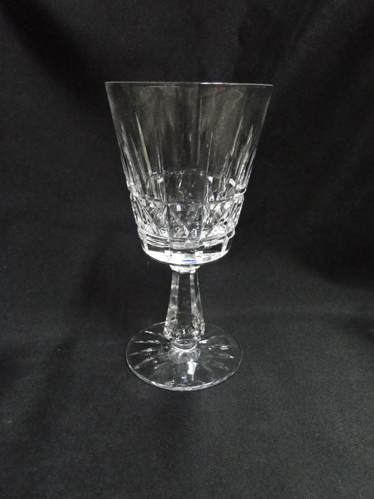 "Waterford Crystal Kylemore, Vertical & X Cuts: Water Goblet (s), 6 7/8"", As Is"