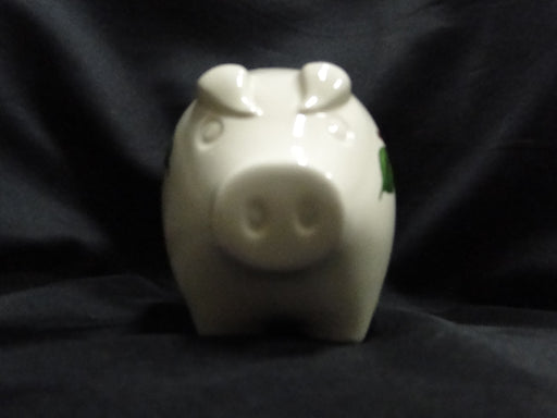 "Franciscan Apple: Piggy Bank w/ Rubber Plug, 6"" x 3 1/2"" x 4 1/2"""