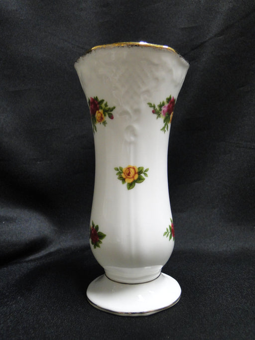 "Royal Albert Old Country Roses, Yellow, Red: Posy Vase, 5 5/8"" Tall"