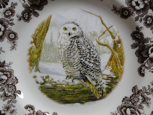 "Spode Woodland Birds of Prey Winter Snowy Owl: NEW Dinner Plate (s), 10 3/4"", Box"