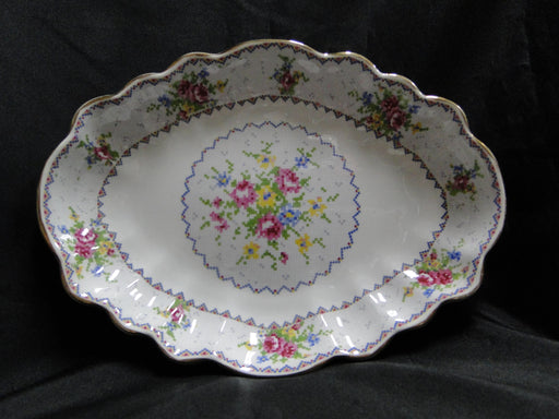 "Royal Albert Petit Point, Floral Embroidery: Jubilee Platter, 10 1/2"" x 8"""