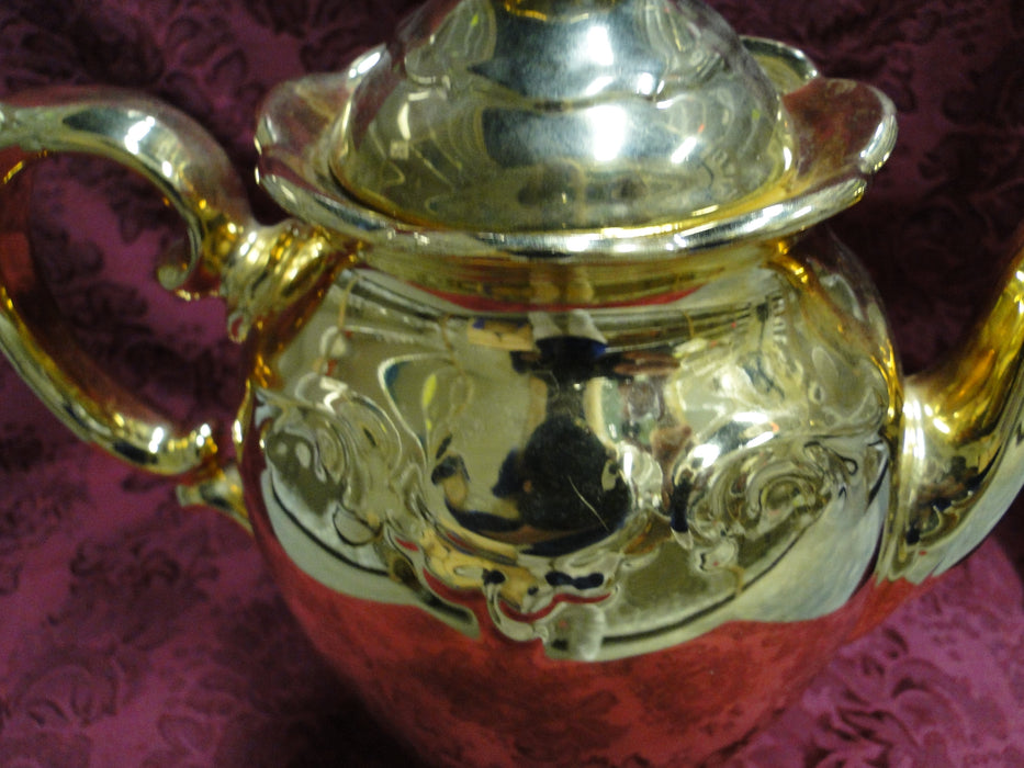 Schumann White Elegance w/ Gold Glaze: Coffee Pot & Lid