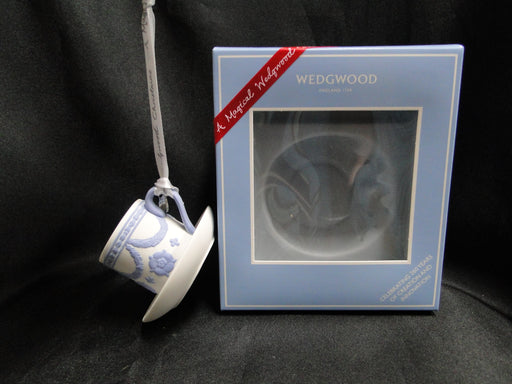 Wedgwood Iconic Ornament: NEW 260th Anniversary Cup & Saucer Ornament, Box