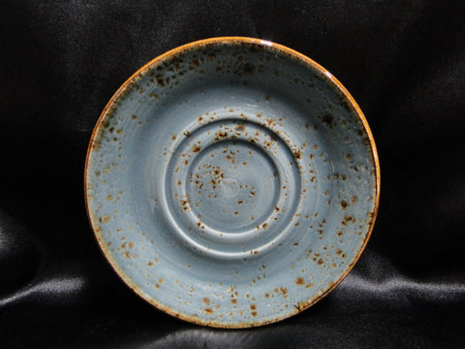 "Steelite Craft, England: NEW Blue 5 3/4"" Double Well Saucer (s), No Cup / Bowl"