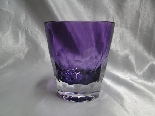 "Waterford Crystal Icon Amethyst, Jeff Leatham: NEW Pair Double Old Fashioneds, 3 7/8"", Box, FREE SHIP, FREE WRAP"