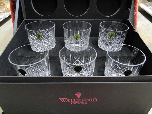 "Waterford Crystal Connoisseur Heritage: NEW Set of 6 Double Old Fashioneds, 4 3/8"", 13 1/2"" oz, Box, FREE SHIP, FREE WRAP"