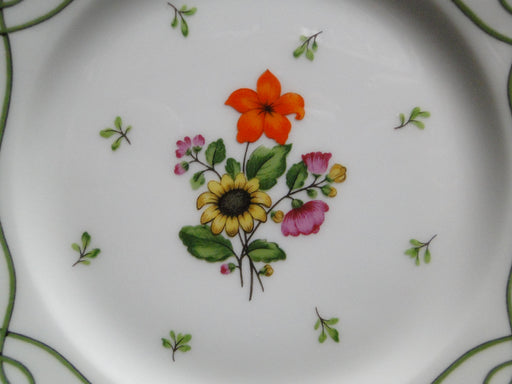 Raynaud Ceralene Guirlandes, Green Line, Flowers: Bread Plate (s), 6 1/2""