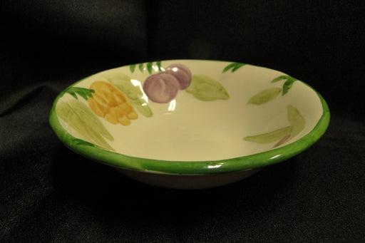 "Franciscan (USA) Fresh Fruit, Green Border: Cereal Bowl (s) 6"" Crazed"