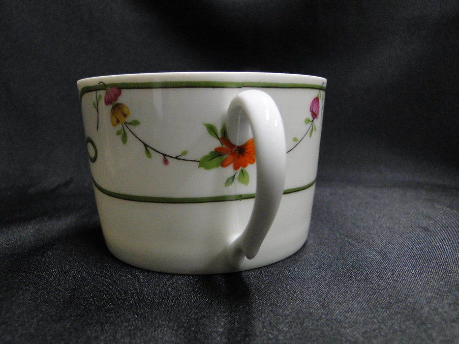 Raynaud Ceralene Guirlandes, Green Line, Flowers: Cup & Saucer Set (s), 2 1/4""