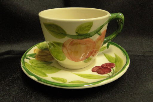 Franciscan (USA) Fresh Fruit, Green Border: Cup & Saucer Set (s)
