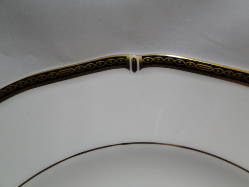 Wedgwood Windsor Black, Gold Design on Black Band: Dinner Plate (s), 10 7/8""