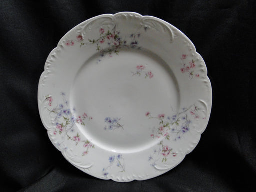 "Haviland (Limoges) Schleiger 309, Pink & Blue Flowers : Dinner Plate (s) 10"" AS IS"