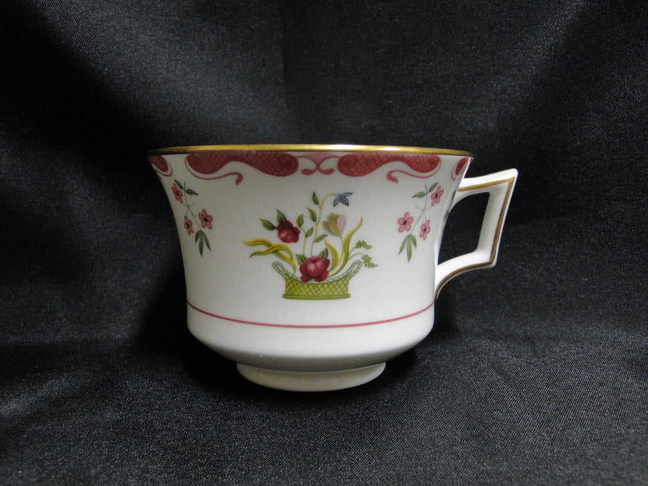 "Wedgwood Bianca, Williamsburg, Flower Basket: Cup & Saucer Set, 2 5/8"", As Is"
