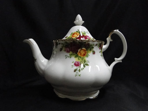 Royal Albert Old Country Roses, Yellow, Red: NEW Teapot & Lid, 7 1/2""