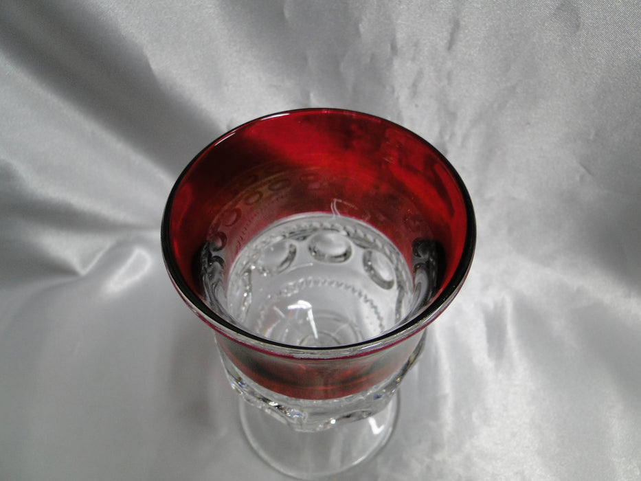 Tiffin King's Crown Ruby Flashed 4016 Water Goblet 5 3/4""