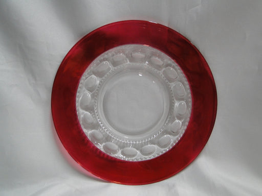 Tiffin King's Crown Ruby Flashed: Luncheon Plate (s), 8 1/4""