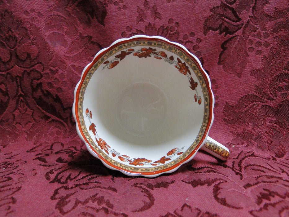 Spode Indian Tree Orange Rust, Floral, Red Trim: Cup (s) Only, No Saucer