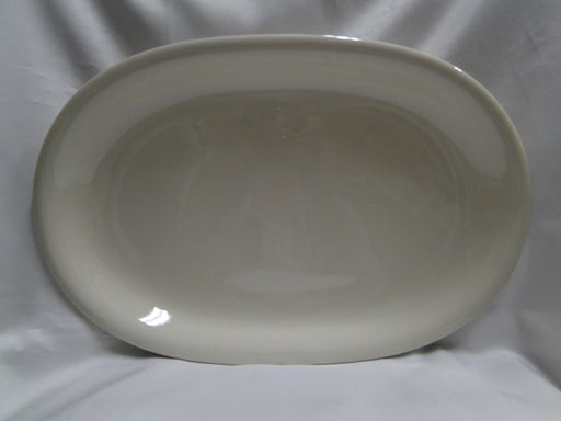 "Hutschenreuther Turvel, All Cream, No Trim: Oval Serving Platter, 15 1/4"", As Is"