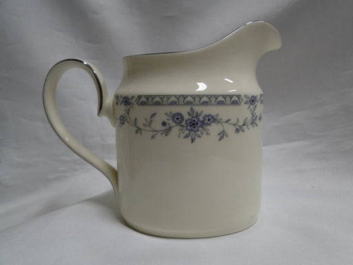 Minton Bellemeade, Blue Floral, Platinum Trim: Creamer / Cream Pitcher, 3 7/8""