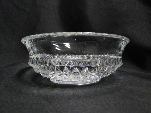 Clear Glass Sugar / Candy / Jam Bowl w/ Hanging Spoon & Stand -- MG#191