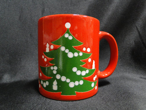 Waechtersbach Christmas Tree, Red w/ Christmas Tree: Mug, 3 7/8""