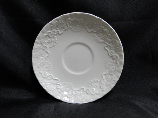 "Ralph Lauren Claire, White with Ribbons: 5 3/4"" Saucer Only, No Cup"
