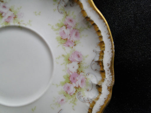 "Haviland Schleiger 340, Saucer (s) Only, 4 3/4"",Blank 304, Double Gold Edge (Limoges)"