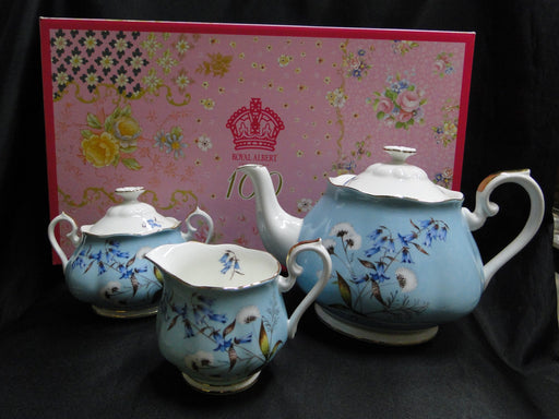 Royal Albert 100 Years, Festival: NEW Teapot, Creamer, & Sugar, Box