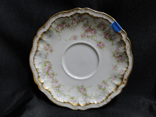 "Haviland Schleiger 340, Saucer (s) Only, 6"" AS IS,Blank 304, Double Gold Edge (Limoges)"