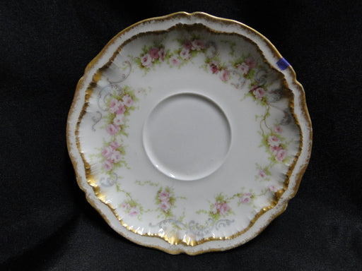 "Haviland Schleiger 340, Saucer (s) Only, 5 5/8"" AS IS,Blank 304, Double Gold Edge Limoges)"