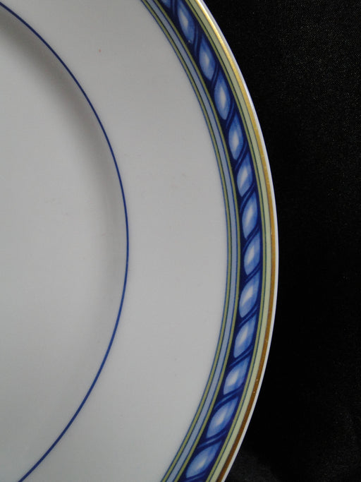 Raynaud Biarritz, Blue Rope Band, Gold Trim: Dinner Plate, 10 3/4""
