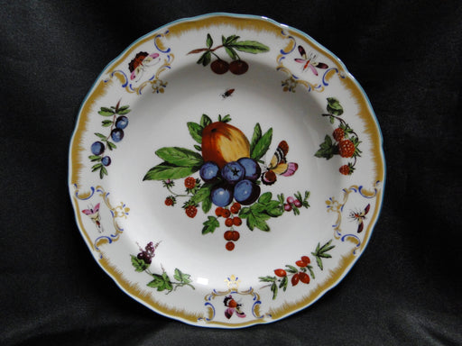 Mottahedeh Duke of Gloucester Salad Plate (s) A, Fruit, Multi color, Gold, Green