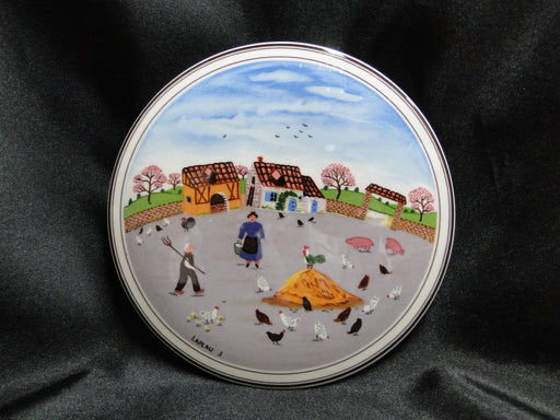 "Villeroy & Boch Design Naif, Country Yard: Round Candy Box & Lid 5 1/2"" x 2 1/4"""