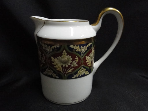 "Christian Dior Tabriz Creamer 4 5/8"", Rust, Blue, Green, Gold Trim"