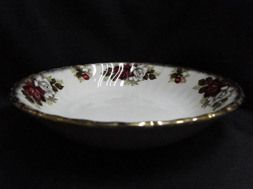 "Aynsley, H. 371 Coupe Soup Bowl AS IS Crazing, 7 1/2"", Red & White Roses, Gold Trim"