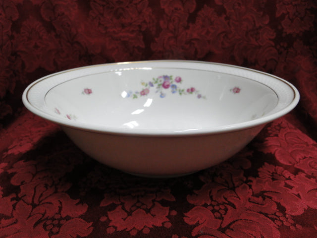 Thomas China 7211, Versailles White, Floral: Round Serving Bowl, 10""